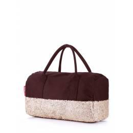 Коттоновая сумка POOLPARTY Rock'n'Roll Brown Gold