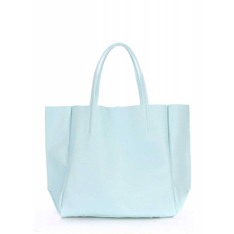 Кожаная сумка POOLPARTY Soho Babyblue