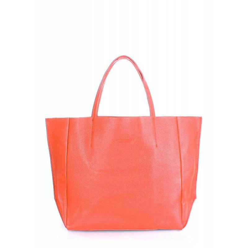 Кожаная сумка POOLPARTY Soho Coral