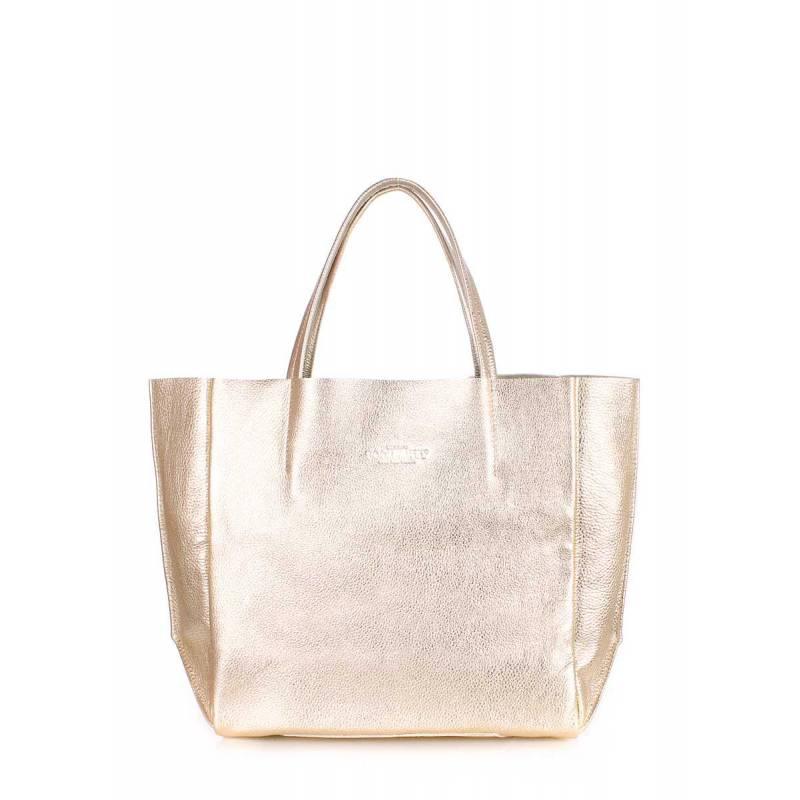 Кожаная сумка POOLPARTY Soho Gold