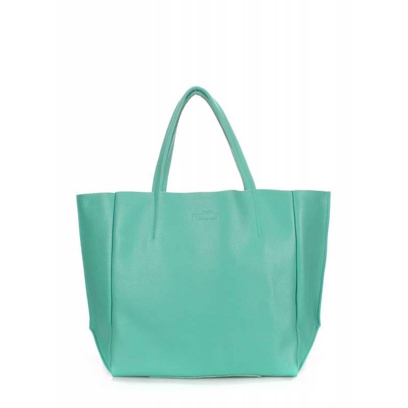 Кожаная сумка POOLPARTY Soho Mint