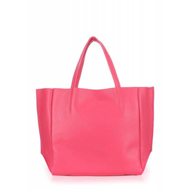 Кожаная сумка POOLPARTY Soho Pink