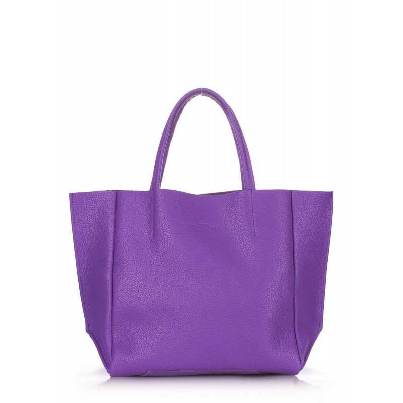 Кожаная сумка POOLPARTY Soho Violet