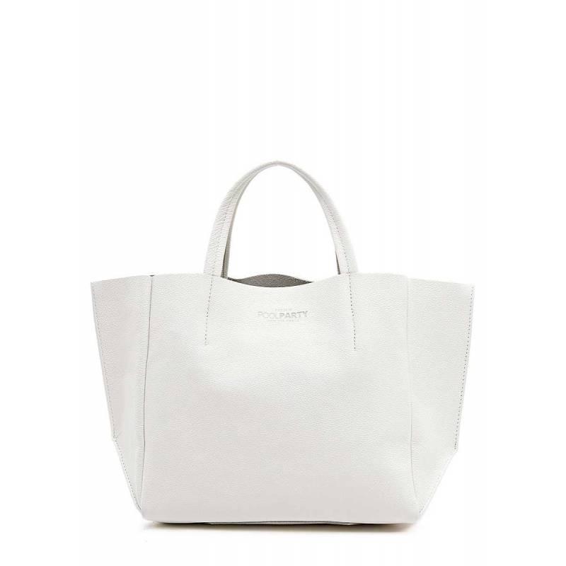 Кожаная сумка POOLPARTY Soho White
