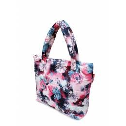 Дутая сумка POOLPARTY с принтом pp4 Pink Frostwork