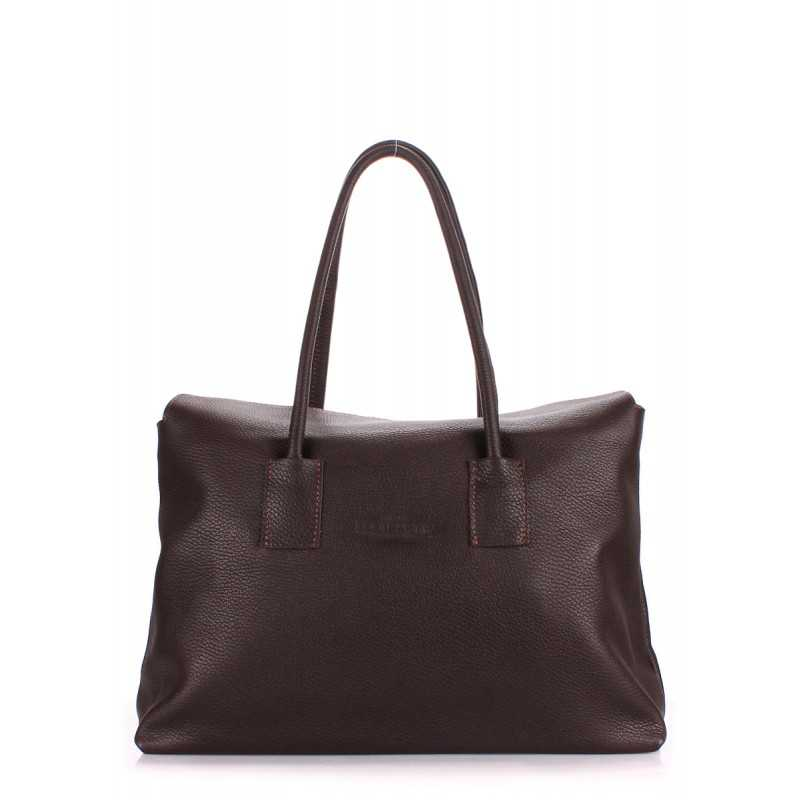 Кожаная сумка POOLPARTY Sense Brown