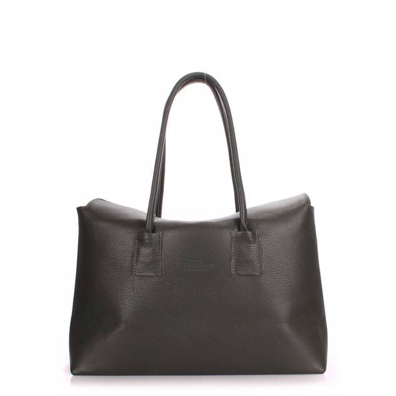 Кожаная сумка POOLPARTY Sense Khaki