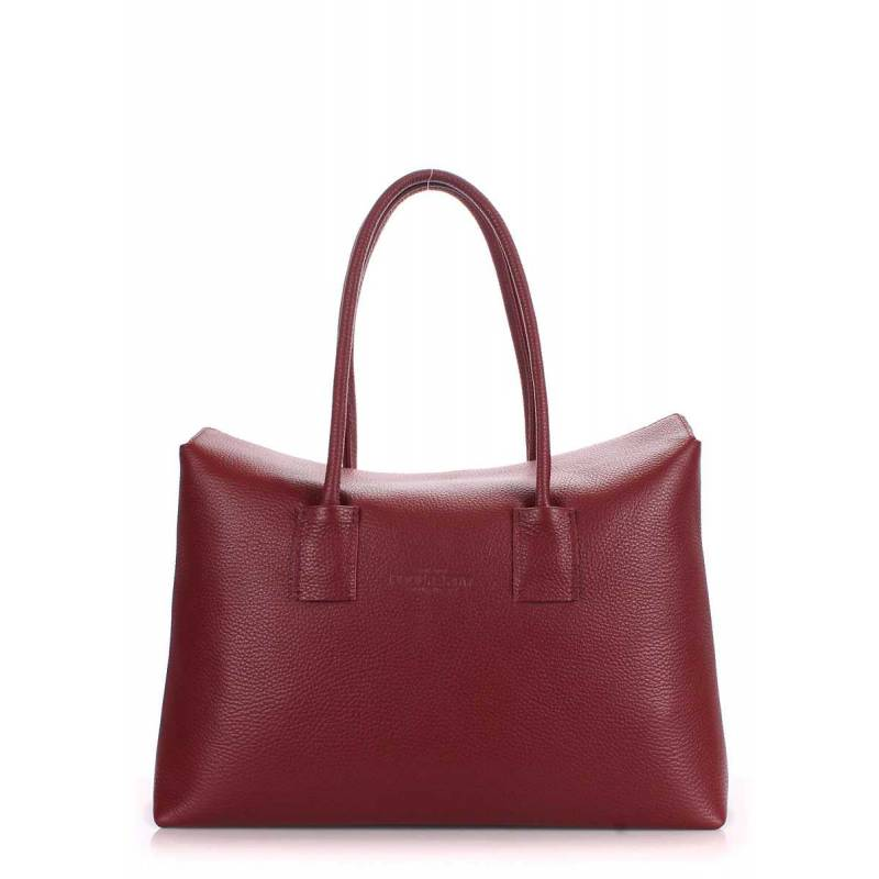 Кожаная сумка POOLPARTY Sense Marsala
