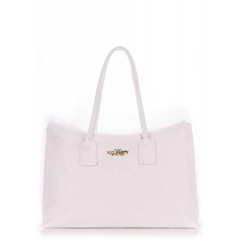 Кожаная сумка POOLPARTY Sense White