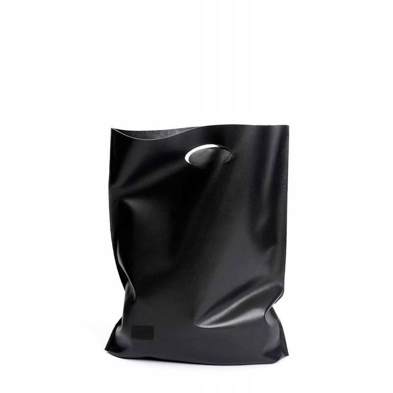 Кожаная сумка POOLPARTY Shopper Black