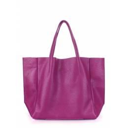 Кожаная сумка POOLPARTY Soho Fuchsia