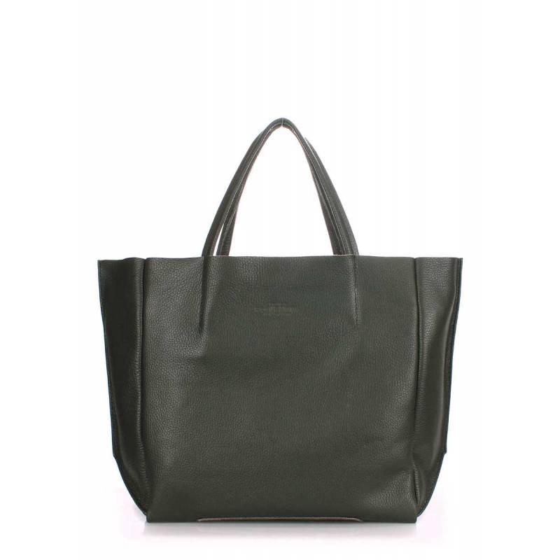 Кожаная сумка POOLPARTY Soho Khaki