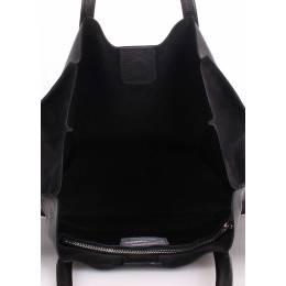 Кожаная сумка POOLPARTY Soho Versa Black