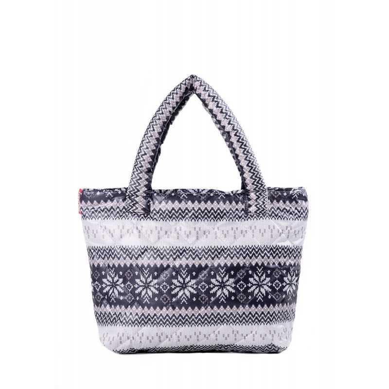 Стеганая сумка с орнаментом PP11 Grey